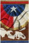 "KC-KCNFC13 Texas Swag Firecracker! 2.25""w x 3.5""h 18 Mesh  KELLY CLARK STUDIO, LLC"