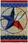 "KC-KCNFC12 Lone Star Firecracker! 2.25""w x 3.5""h 18 Mesh  KELLY CLARK STUDIO, LLC"