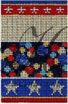 "KC-KCNFC11 Color Burst Firecracker! 2.25""w x 3.5""h 18 Mesh With Stitch Guide  KELLY CLARK STUDIO, LLC"