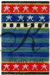 "KC-KCNFC2 Blue Stripes Firecracker! 2.25""w x 3.5""h 18 Mesh With Stitch Guide  KELLY CLARK STUDIO, LLC"