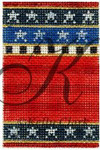"KC-KCNFC3 Red Stripes Firecracker! 2.25""w x 3.5""h 18 Mesh With Stitch Guide  KELLY CLARK STUDIO, LLC"