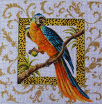 AN109 Colors of Praise 13 Mesh Canvas Blue/Orange Parrot