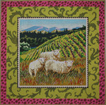 AN107 Colors of Praise 13 Mesh Canvas Sheep