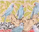 AN112 Colors of Praise 13 Mesh Canvas Blue Parrots