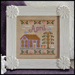12-1253 Cottage Of The Month-April 77x77 Country Cottage Needleworks