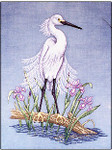00-2052 Snowy Egret by Crossed Wing Collection