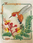 04-1654 Rufous Hummingbird 2004 by Crossed Wing Collection