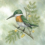 05-2622 Green Kingfisher by Crossed Wing Collection