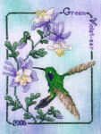 06-1529 Green Violet - Ear Hummingbird 2006  Crossed Wing Collection