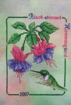 07-1511 Black Chinned Hummingbird 2007 by Crossed Wing Collection