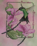13-1573 Red Billed Streamertail-2013 Hummingbird 79 x 105 Crossed Wing Collection