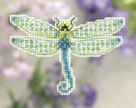 MH181104 Mill Hill Seasonal Ornament / Pin Kit Dragonfly (2011)