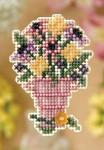 MH188104 Mill Hill Seasonal Ornament / Pin Kit Cut Flowers (2008)