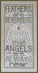 15-1729 Feathers (Charmed w/chm) by Hinzeit 55w x 115h