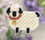 MH181102 Mill Hill Seasonal Ornament Kit Little Lamb (2011)