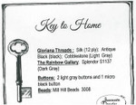 15-1148 Key To Home Emb Pk by Jeannette Douglas Designs