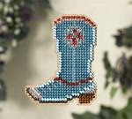 MH187106 Mill Hill Seasonal Ornament Kit Western Boot (2007)