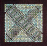 BON BON 4 - DARK CHOCOLATE WITH MINT  140 x 140 DebBee's Designs Counted Canvas Pattern