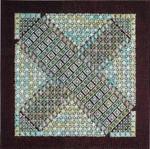 BON BON 4 - DARK CHOCOLATE WITH MINT  140 x 140 DebBee's Designs Counted Canvas Pattern