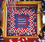 WAVE THE FLAG (CC) 108 x 108 DebBee's Designs Counted Canvas Pattern
