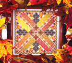 FALLING LEAVES (CC) 108 x 108 DebBee's Designs Counted Canvas Pattern