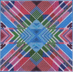 KALEIDOSCOPE (CC) 216 x 216 DebBee's Designs Counted Canvas Pattern
