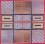 DOUBLE CROSS DIVERSION (CC) 180 x 180 - 18ct canvas DebBee's Designs Counted Canvas Pattern