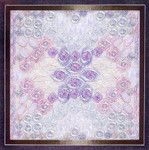 GLITZ & GLAMOUR OPAL (CC) 104 x 104 DebBee's Designs Counted Canvas Pattern