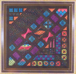 GLITZ & GLAMOUR HARLEQUIN OPAL (CC) 104 x 104 DebBee's Designs Counted Canvas Pattern