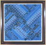GLITZ & GLAMOUR TURQUOISE (CC) 104 x 104 DebBee's Designs Counted Canvas Pattern