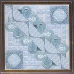 GLITZ & GLAMOUR AQUAMARINE (CC) 104 x 104 DebBee's Designs Counted Canvas Pattern