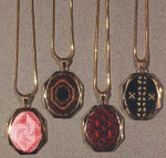 "NEEDLEPOINT NECKLACES I W/1 FINISHING SET (CC) 22 x 28  Includes: 1 ""gold"" finishing set DebBee's Designs Counted Canvas Pattern"