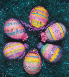FUN & FUNKY EASTER EGG (CC) 45 x 37 each  DebBee's Designs Counted Canvas Pattern