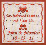 MY BELOVED IS MINE (CC) 136 x 136 DebBee's Designs Counted Canvas Pattern