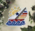 MH187105 Mill Hill Seasonal Ornament / Pin Kit Sail Away (2007)