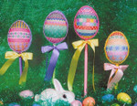 EASTER PARADE (CC) 70 x 88 each - 18ct canvas DebBee's Designs Counted Canvas Pattern
