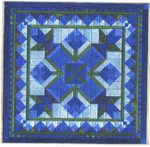 BASKET OF BLUEBONNETS Laura J Perin Designs Counted Canvas Patternn