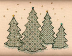 CHRISTMAS FOREST W/EMB Laura J Perin Designs Counted Canvas Pattern Only