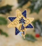MH187305 Mill Hill Seasonal Ornament / Pin Kit Shining Star (2007)