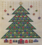 CHRISTMAS TREE 2011 (CC) 192w x 216h - 18ct canvas  Includes: beads Laura J Perin Designs Counted Canvas Pattern Only