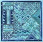 LAHAINA BREEZES (CC) 177 x 177  Includes: embellishments Laura J Perin Designs Counted Canvas Pattern Only