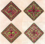 JEWEL ORNAMENTS (CC) 108 x 108  Includes: beads Laura J Perin Designs Counted Canvas Patternn