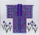 IRIS KIMONO Laura J Perin Designs Counted Canvas  Pattern Only