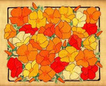 CALIFORNIA POPPIES Laura J Perin Designs Counted Canvas Patternn
