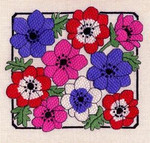 ANEMONES  Laura J Perin Designs Counted Canvas Patternn