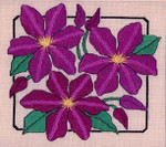 CLEMATIS  Laura J Perin Designs Counted Canvas Pattern Only