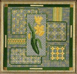 DAFFODIL COLLAGE W/EMB Laura J Perin Designs Counted Canvas Pattern
