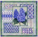 LILAC COLLAGE W/BEAD PACK  Laura J Perin Designs Counted Canvas Pattern