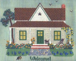LONE STAR COTTAGE Laura J Perin Designs Counted Canvas Pattern