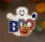 MH186202 Mill Hill Seasonal Ornament / Pin Kit Boo Ghost (2006)